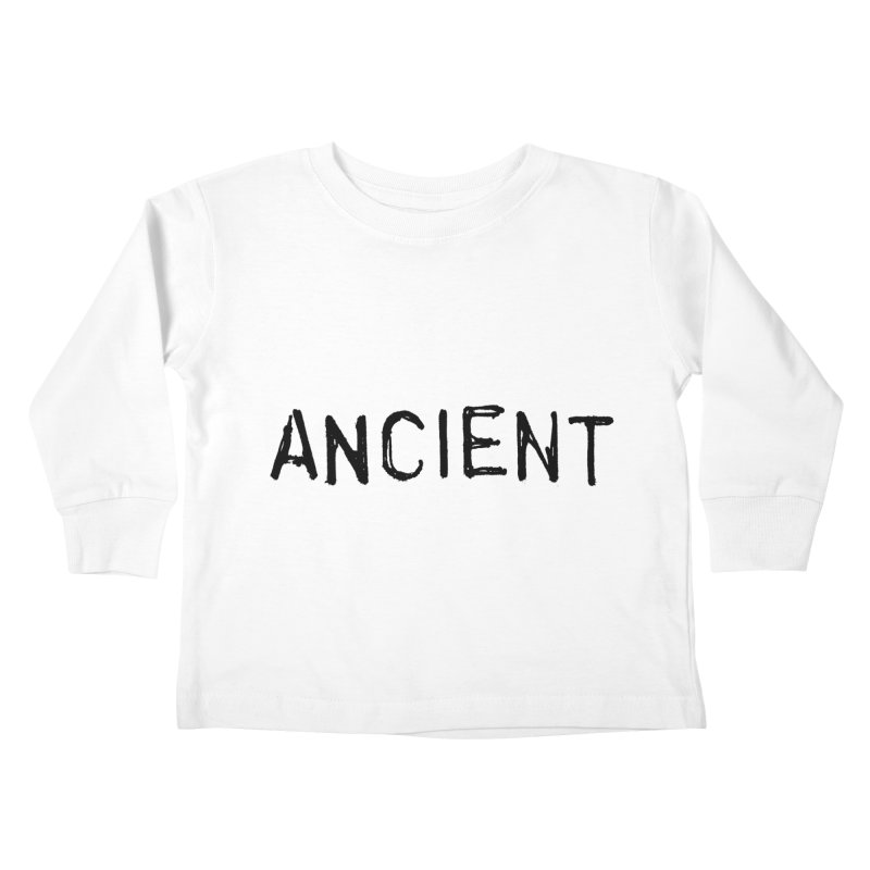 Ancient Champion Ancient Logo Black Kids Toddler Longsleeve T-Shirt by Dress like an Ancient Champion