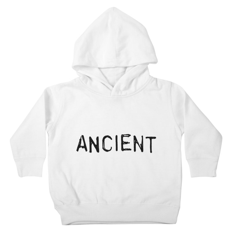 Ancient Champion Ancient Logo Black Kids Toddler Pullover Hoody by Dress like an Ancient Champion