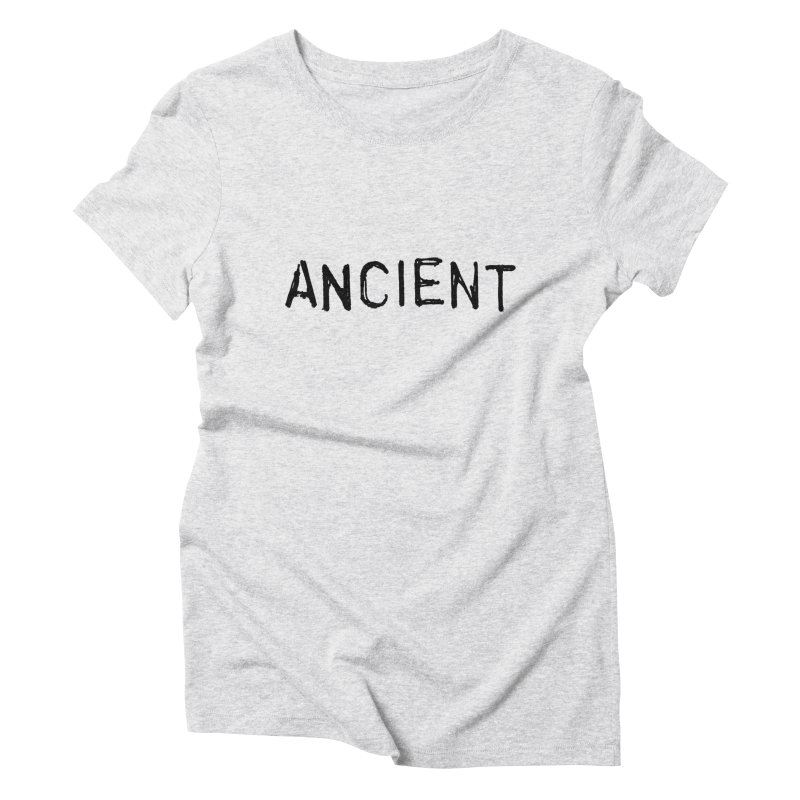 Ancient Champion Ancient Logo Black Women's T-Shirt by Dress like an Ancient Champion