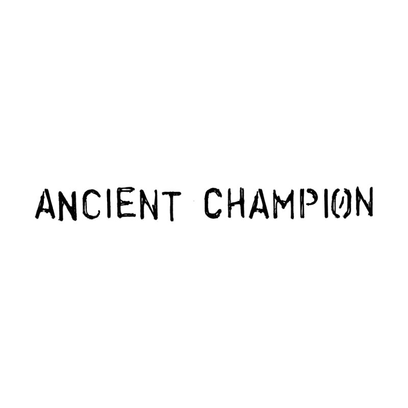 Ancient Champion Ancient Champion Logo Black Kids Longsleeve T-Shirt by Dress like an Ancient Champion