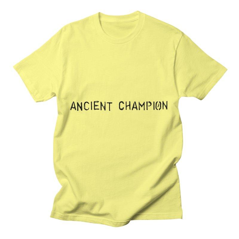 Ancient Champion Ancient Champion Logo Black Women's T-Shirt by Dress like an Ancient Champion