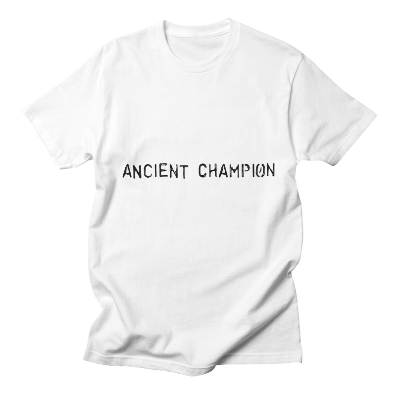Ancient Champion Ancient Champion Logo Black in Men's Regular T-Shirt White by Dress like an Ancient Champion