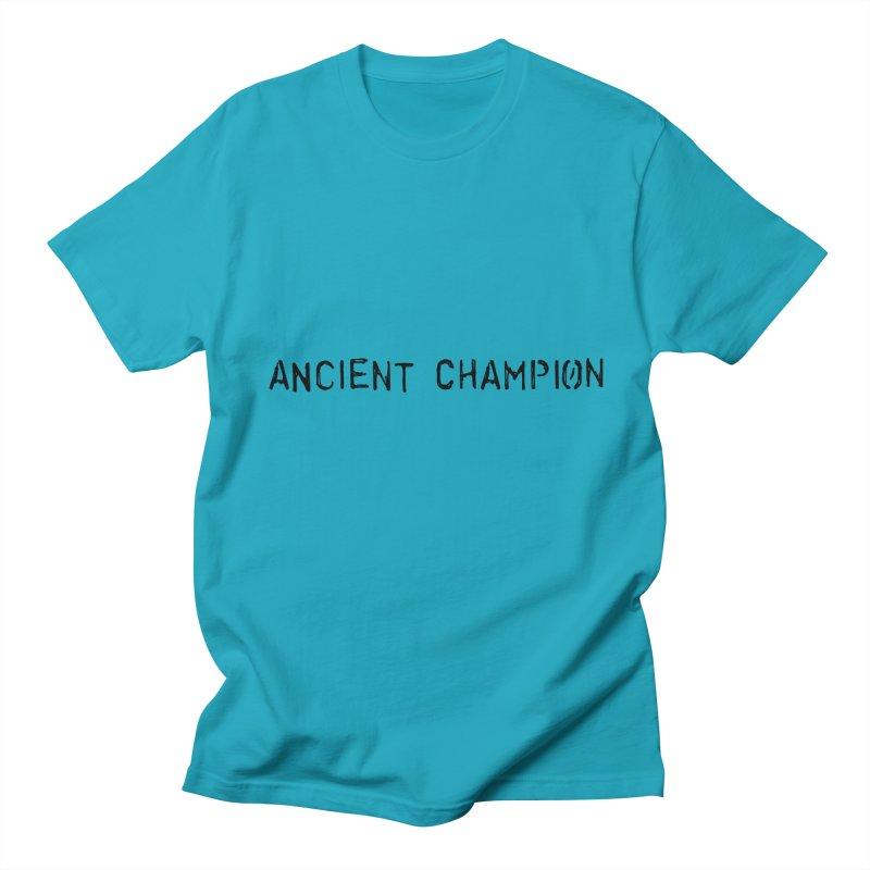 Ancient Champion Ancient Champion Logo Black Men's T-Shirt by Dress like an Ancient Champion