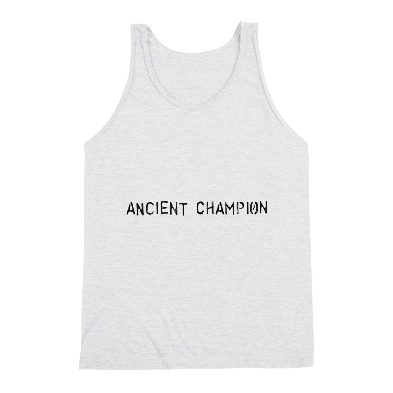 Ancient Champion Ancient Champion Logo Black Men's Tank by Dress like an Ancient Champion