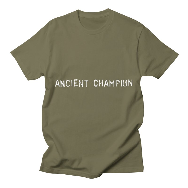 Ancient Champion Ancient Champion White Logo Men's T-Shirt by Dress like an Ancient Champion