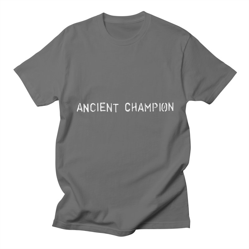 Ancient Champion Ancient Champion White Logo in Men's Regular T-Shirt Asphalt by Dress like an Ancient Champion
