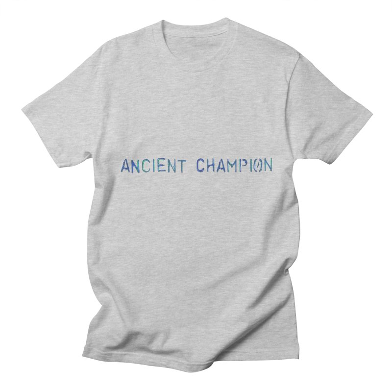 Ancient Champion Ancient Champion Logo Blue in Men's Regular T-Shirt Heather Grey by Dress like an Ancient Champion