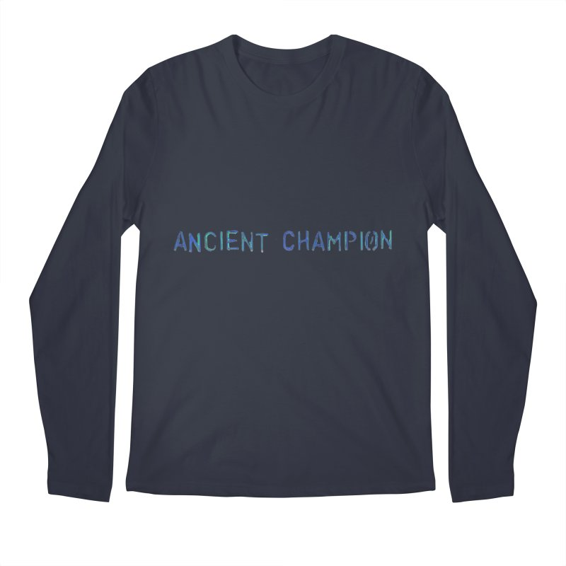 Ancient Champion Ancient Champion Logo Blue Men's Longsleeve T-Shirt by Dress like an Ancient Champion