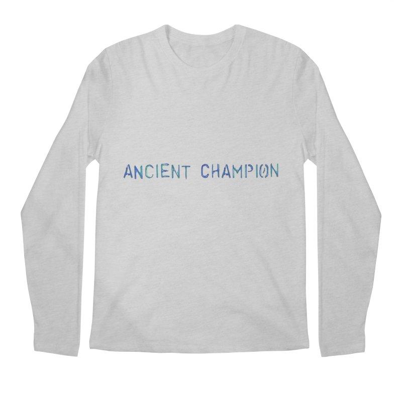 Ancient Champion Ancient Champion Logo Blue Men's Longsleeve T-Shirt by Dress like an Ancient Champion