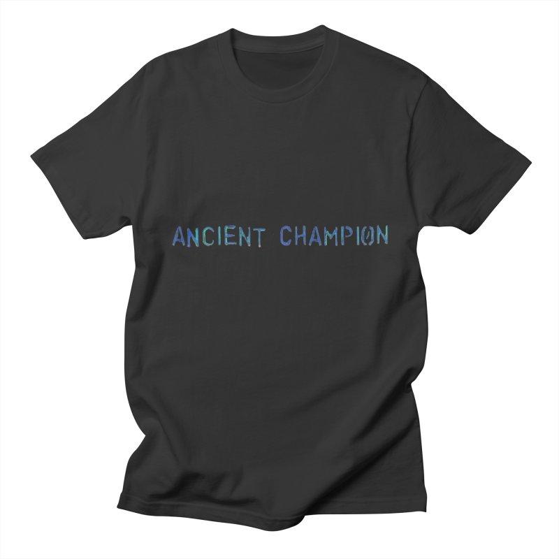 Ancient Champion Ancient Champion Logo Blue Men's T-Shirt by Dress like an Ancient Champion