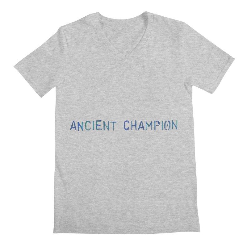 Ancient Champion Ancient Champion Logo Blue Men's V-Neck by Dress like an Ancient Champion