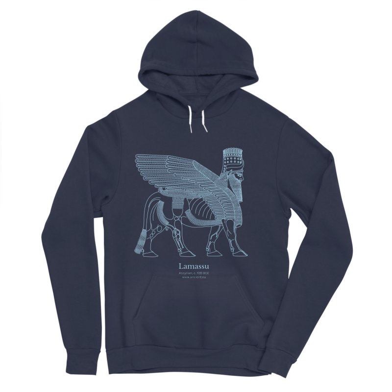 Lamassu (Oxford Blue) Men's Pullover Hoody by Ancient History Encyclopedia