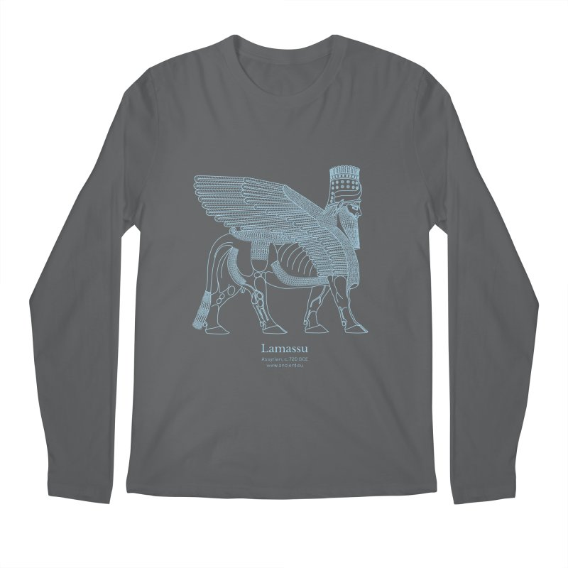 Lamassu (Oxford Blue) Men's Regular Longsleeve T-Shirt by Ancient History Encyclopedia