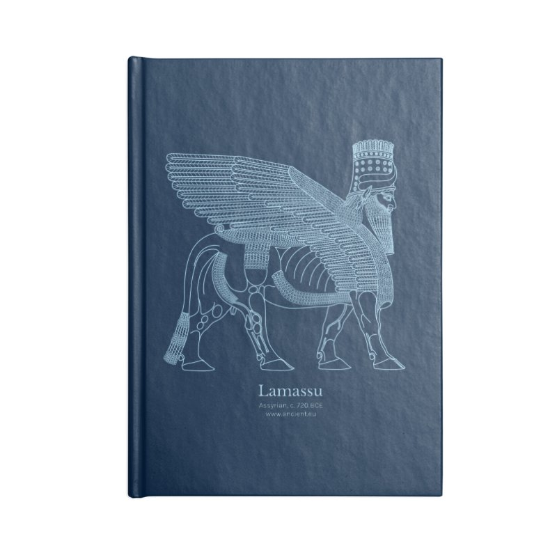 Lamassu (Oxford Blue) Accessories Lined Journal Notebook by Ancient History Encyclopedia