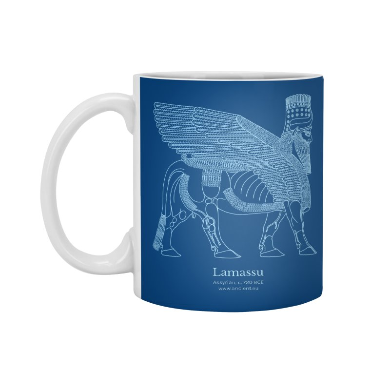 Lamassu (Dark Cerulean) Accessories Standard Mug by Ancient History Encyclopedia
