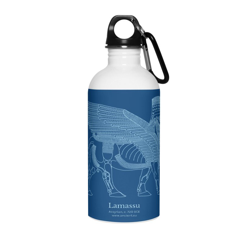 Lamassu (Dark Cerulean) Accessories Water Bottle by Ancient History Encyclopedia
