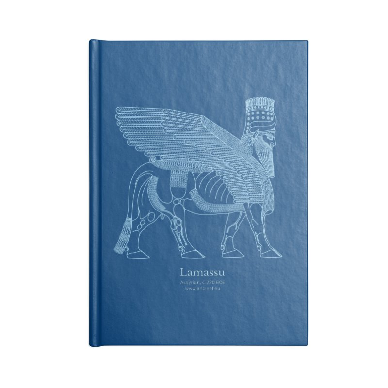 Lamassu (Dark Cerulean) in Blank Journal Notebook by Ancient History Encyclopedia