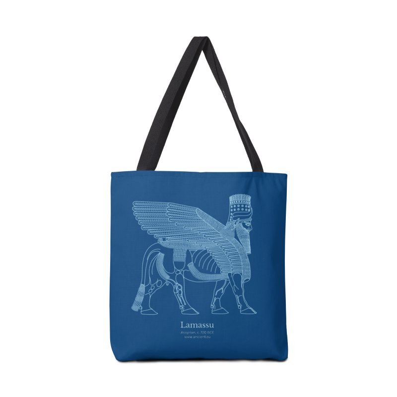 Lamassu (Dark Cerulean) Accessories Tote Bag Bag by Ancient History Encyclopedia