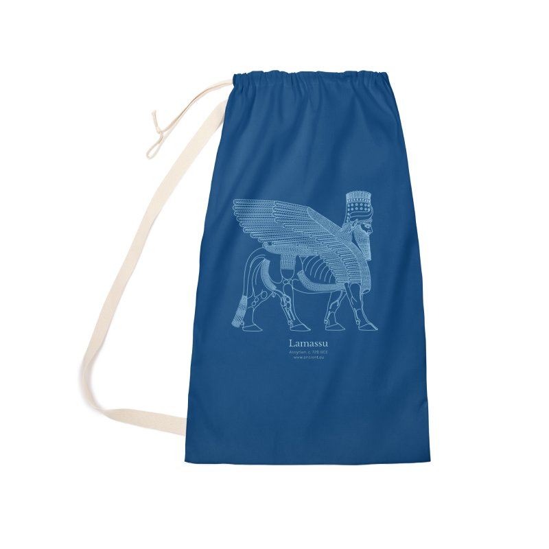 Lamassu (Dark Cerulean) Accessories Laundry Bag Bag by Ancient History Encyclopedia