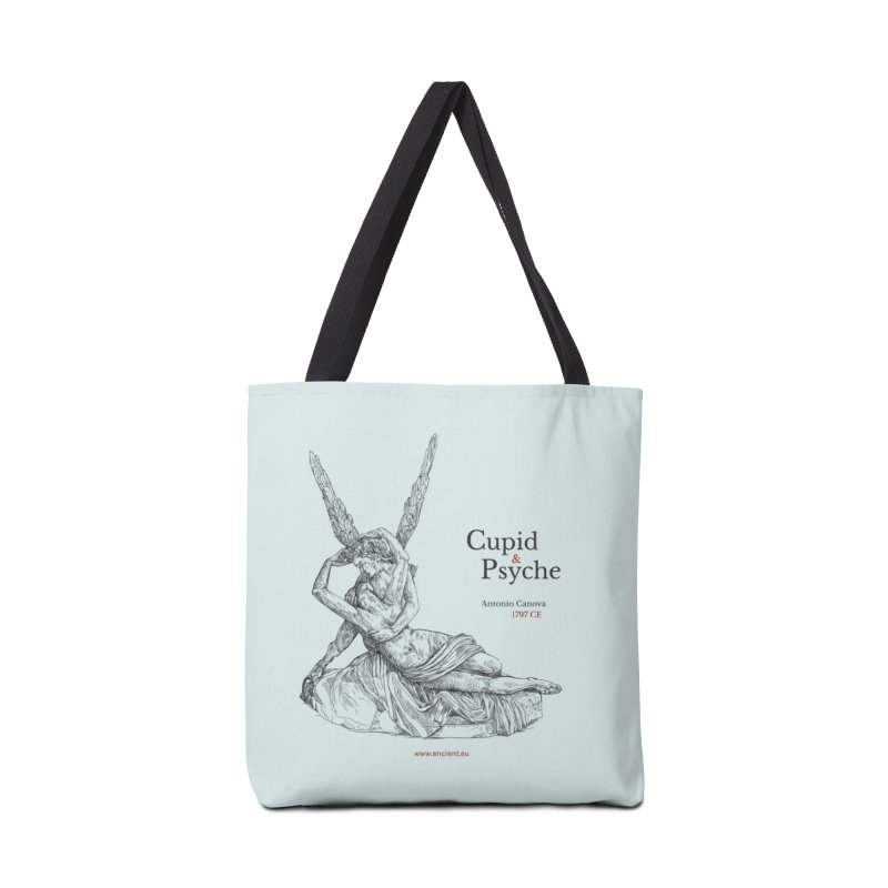 Cupid and Psyche (Celtic Blue) Accessories Tote Bag Bag by Ancient History Encyclopedia