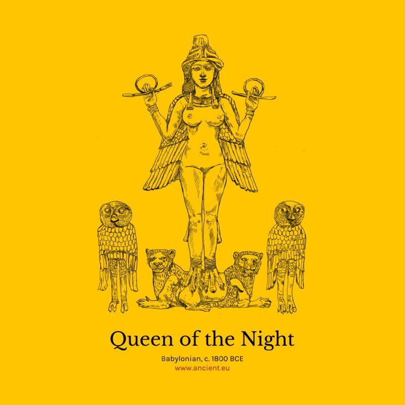 Queen of the Night (Blazing Star Yellow) Home Fine Art Print by Ancient History Encyclopedia