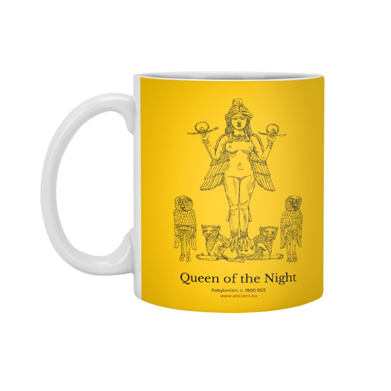 Queen of the Night (Blazing Star Yellow) Accessories Standard Mug by Ancient History Encyclopedia
