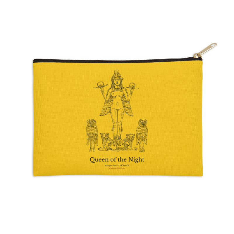 Queen of the Night (Blazing Star Yellow) in Zip Pouch by Ancient History Encyclopedia