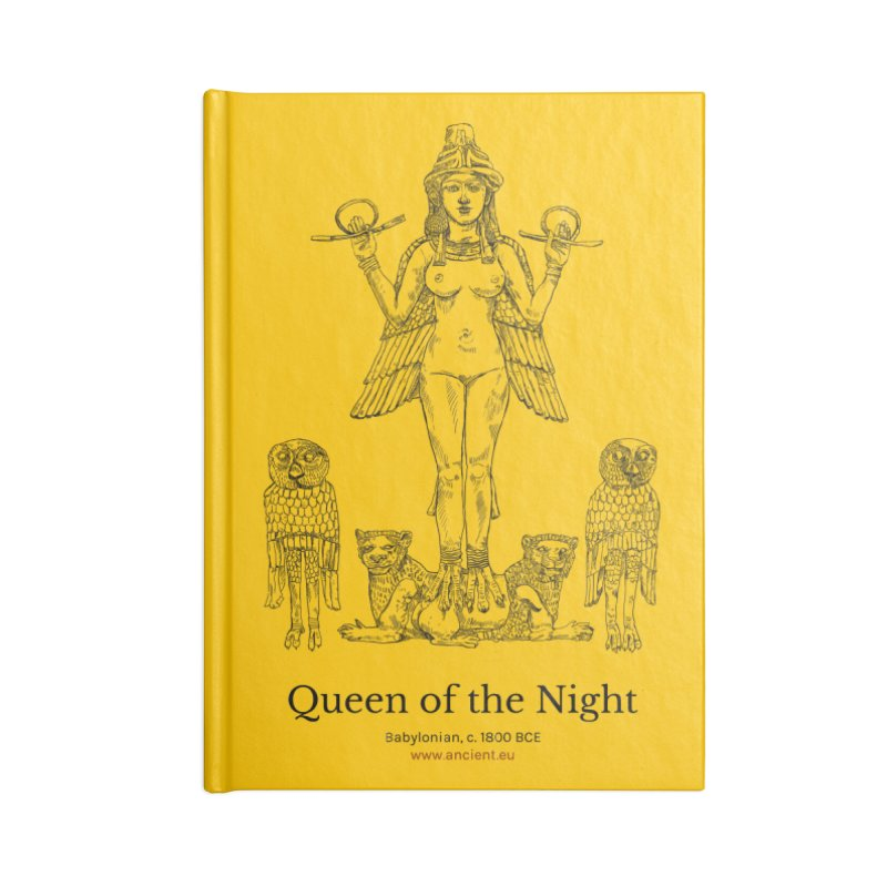 Queen of the Night (Blazing Star Yellow) Accessories Lined Journal Notebook by Ancient History Encyclopedia