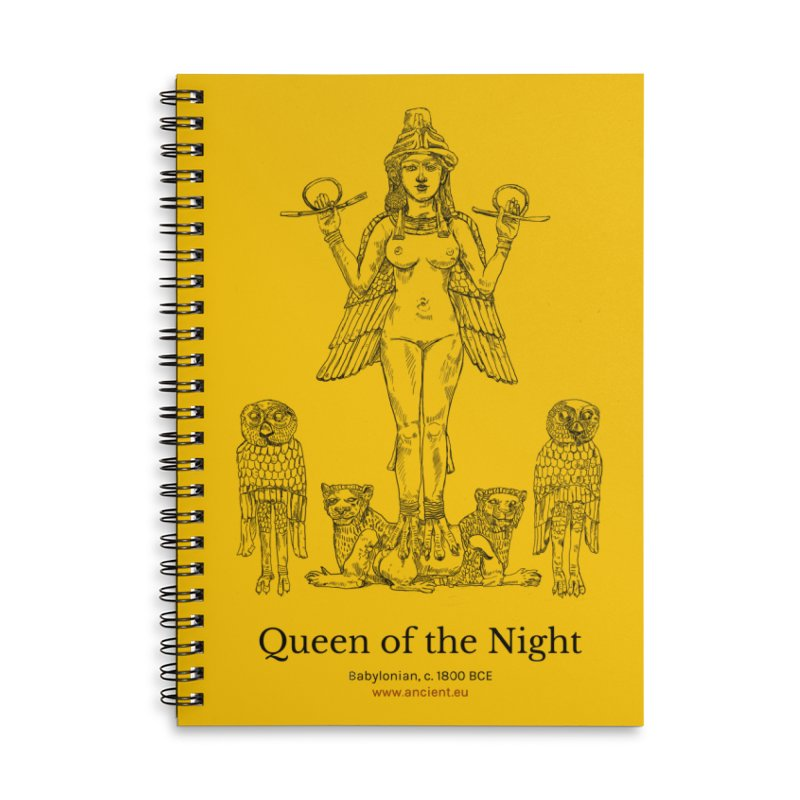 Queen of the Night (Blazing Star Yellow) Accessories Lined Spiral Notebook by Ancient History Encyclopedia