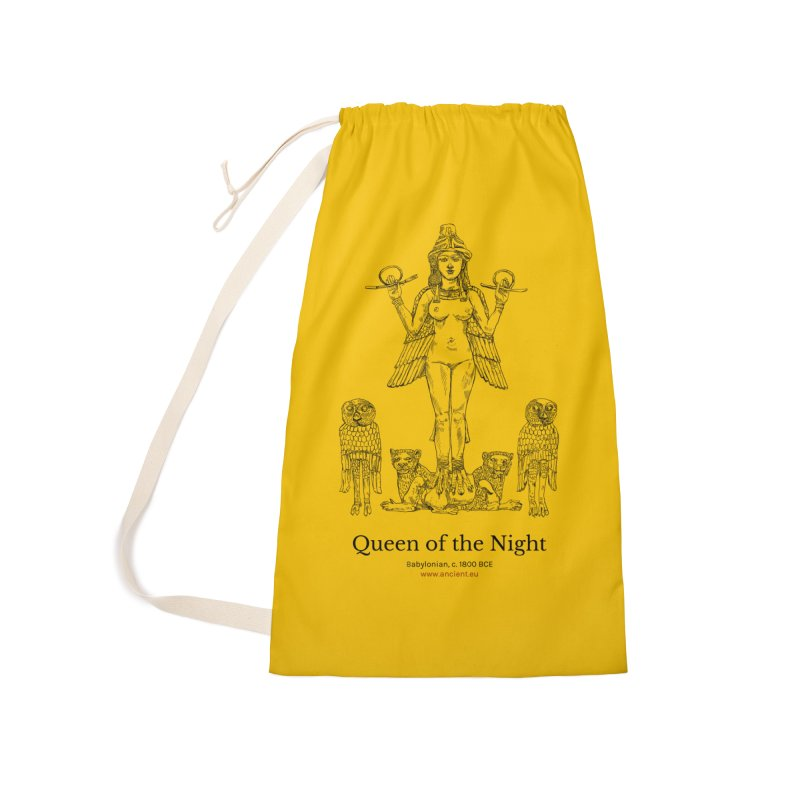Queen of the Night (Blazing Star Yellow) Accessories Laundry Bag Bag by Ancient History Encyclopedia