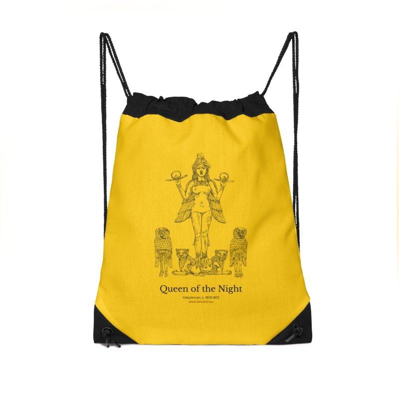Queen of the Night (Blazing Star Yellow) Accessories Drawstring Bag Bag by Ancient History Encyclopedia