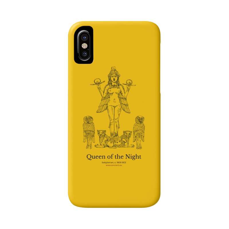 Queen of the Night (Blazing Star Yellow) in iPhone X / XS Phone Case Slim by Ancient History Encyclopedia