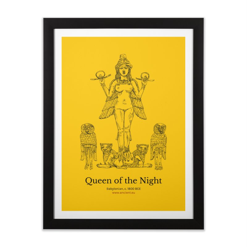 Queen of the Night (Blazing Star Yellow) Home Framed Fine Art Print by Ancient History Encyclopedia