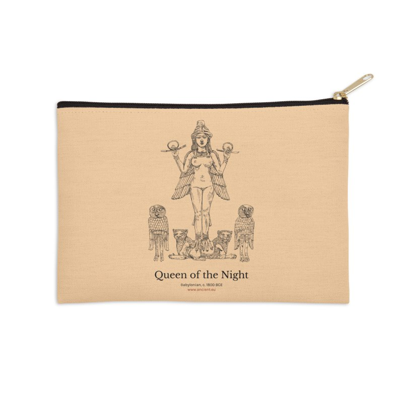 Queen of the Night (Peach) Accessories Zip Pouch by Ancient History Encyclopedia