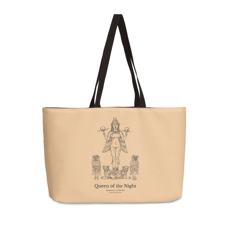 Queen of the Night (Peach) Accessories Weekender Bag Bag by Ancient History Encyclopedia