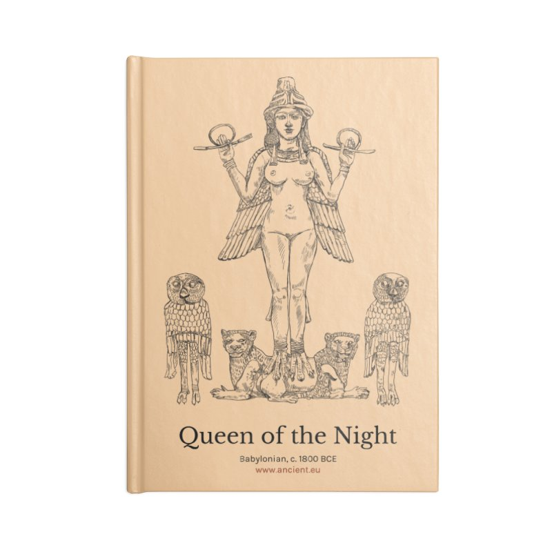 Queen of the Night (Peach) Accessories Lined Journal Notebook by Ancient History Encyclopedia