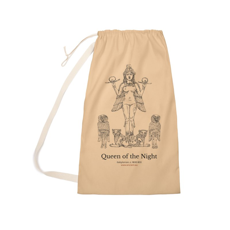 Queen of the Night (Peach) Accessories Laundry Bag Bag by Ancient History Encyclopedia