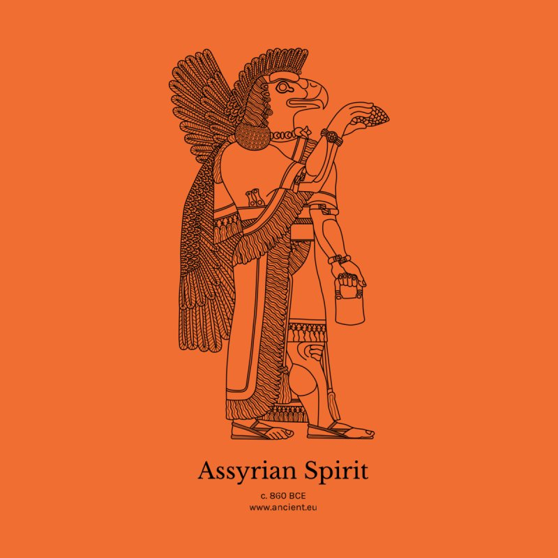 Assyrian Spirit (Deep Carrot Orange) Home Fine Art Print by Ancient History Encyclopedia