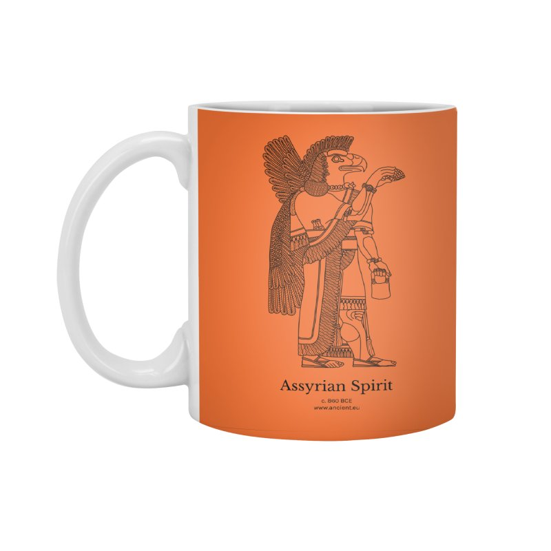 Assyrian Spirit (Deep Carrot Orange) Accessories Standard Mug by Ancient History Encyclopedia
