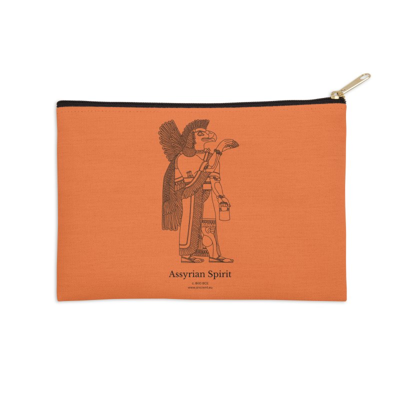 Assyrian Spirit (Deep Carrot Orange) Accessories Zip Pouch by Ancient History Encyclopedia