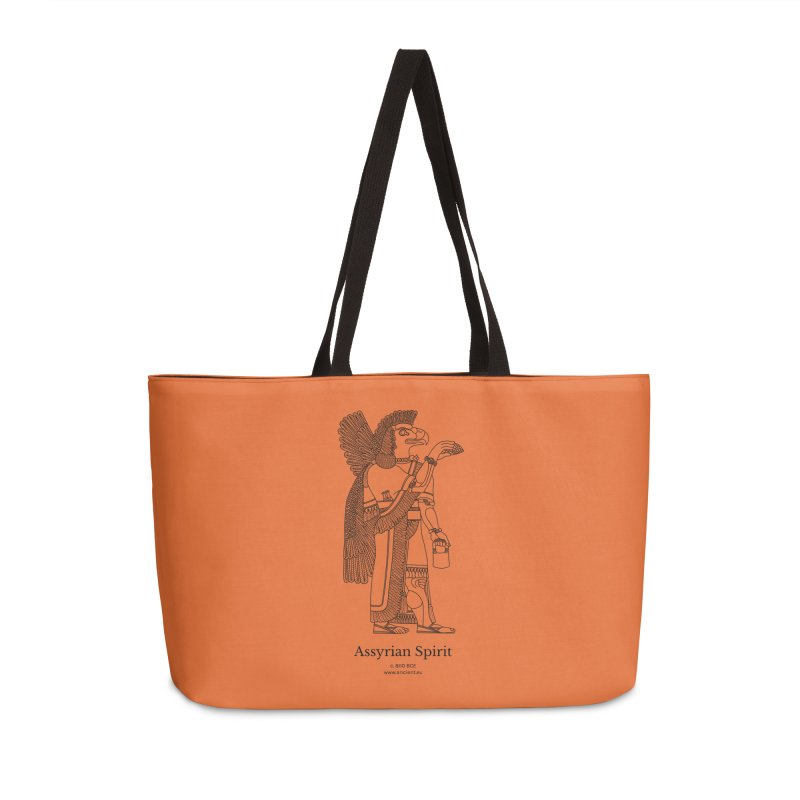 Assyrian Spirit (Deep Carrot Orange) Accessories Weekender Bag Bag by Ancient History Encyclopedia