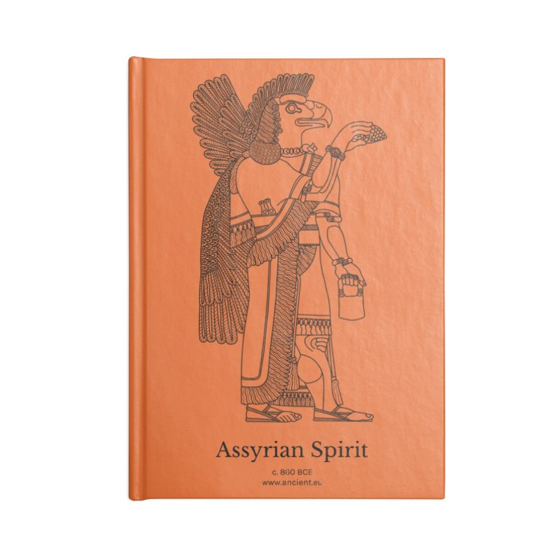 Assyrian Spirit (Deep Carrot Orange) Accessories Lined Journal Notebook by Ancient History Encyclopedia