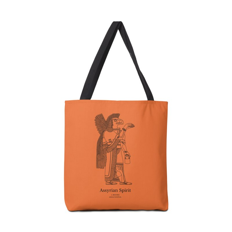 Assyrian Spirit (Deep Carrot Orange) Accessories Tote Bag Bag by Ancient History Encyclopedia