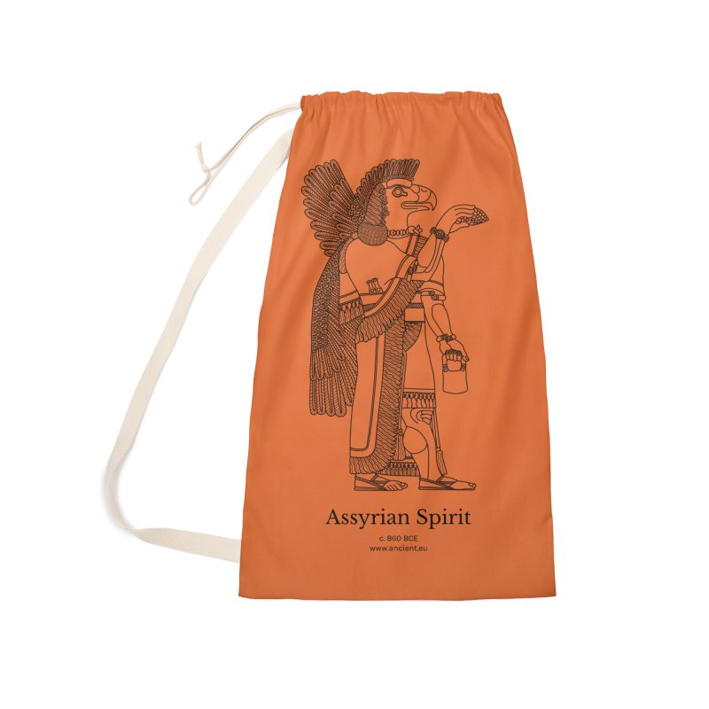 Assyrian Spirit (Deep Carrot Orange) Accessories Laundry Bag Bag by Ancient History Encyclopedia