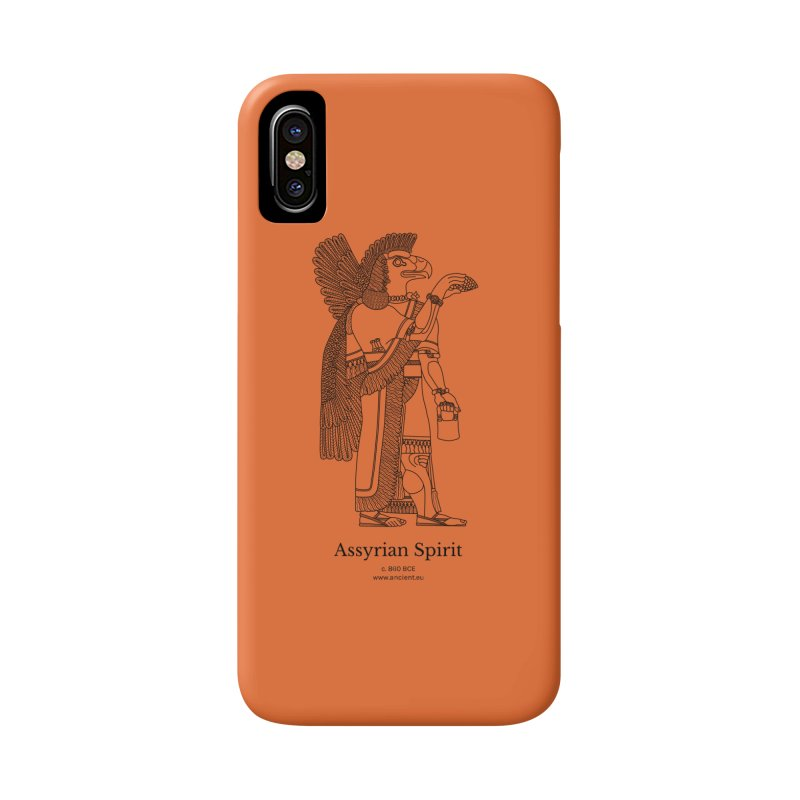 Assyrian Spirit (Deep Carrot Orange) Accessories Phone Case by Ancient History Encyclopedia