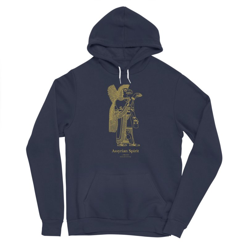 Assyrian Spirit Clothing in Women's Sponge Fleece Pullover Hoody Navy by Ancient History Encyclopedia