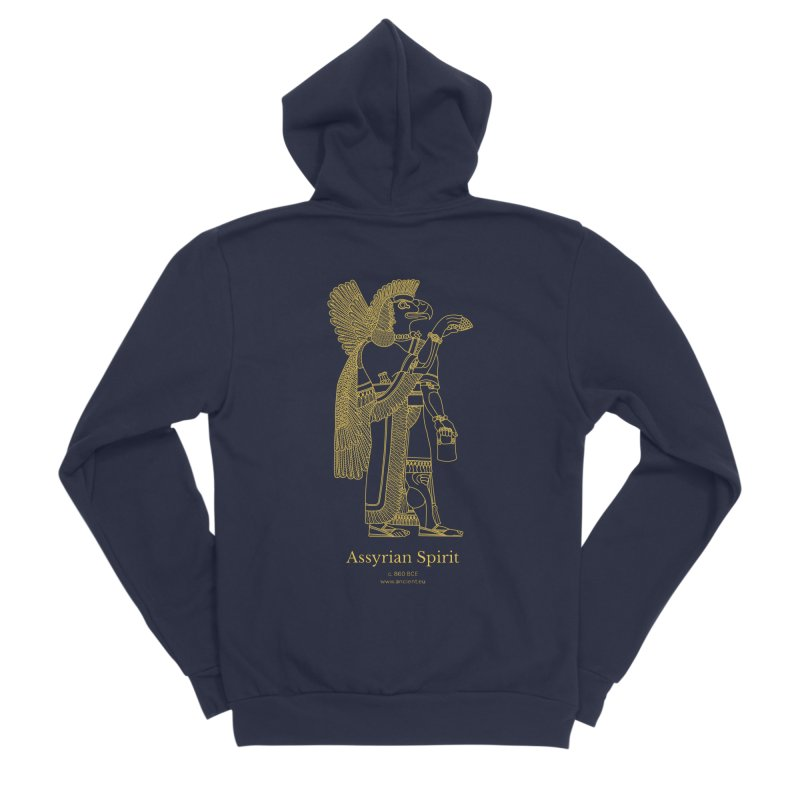 Assyrian Spirit Clothing Men's Sponge Fleece Zip-Up Hoody by Ancient History Encyclopedia