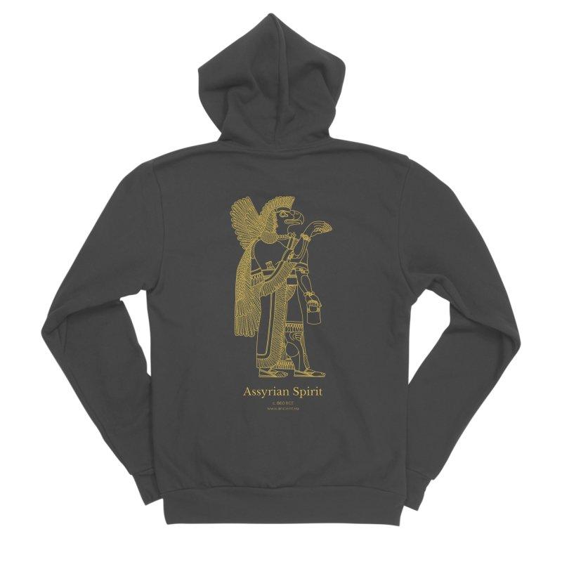 Assyrian Spirit Clothing Men's Sponge Fleece Zip-Up Hoody by Ancient History Encyclopedia