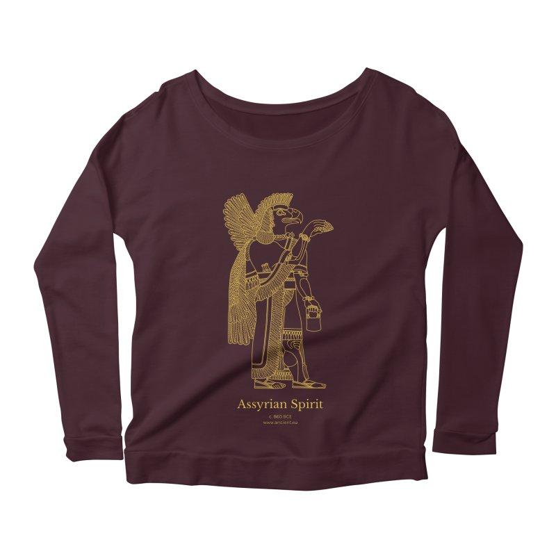 Assyrian Spirit Clothing Women's Scoop Neck Longsleeve T-Shirt by Ancient History Encyclopedia