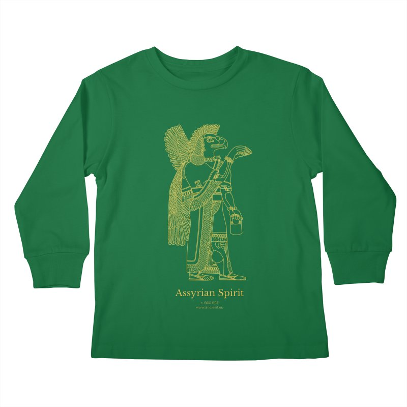 Assyrian Spirit Clothing Kids Longsleeve T-Shirt by Ancient History Encyclopedia